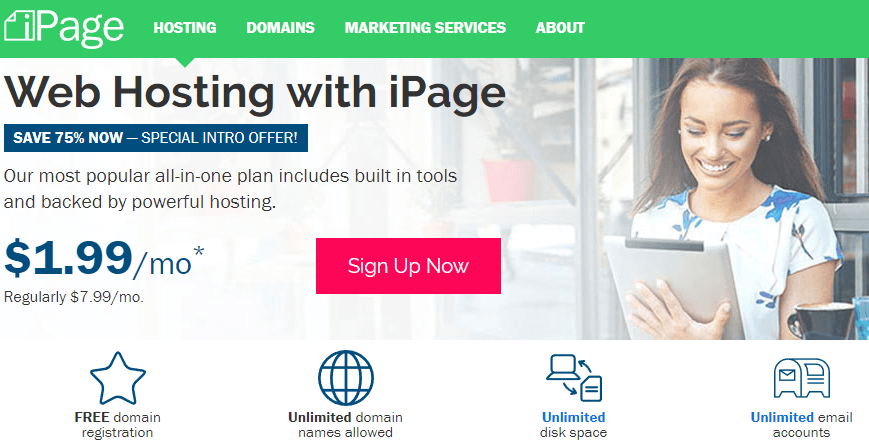Web hosting iPage